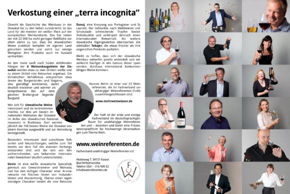 FuW Anzeige in der Vinum 2018/09