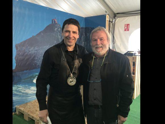 Mit Sommelier Jon Andoni Rementeria nach der Masterclass