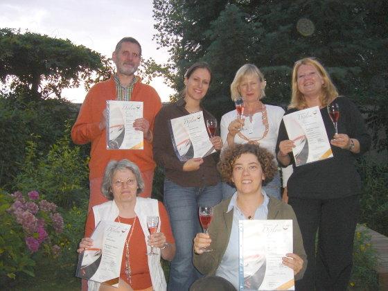 Absolventen Weinkennerdiplom Bronze im August 2006