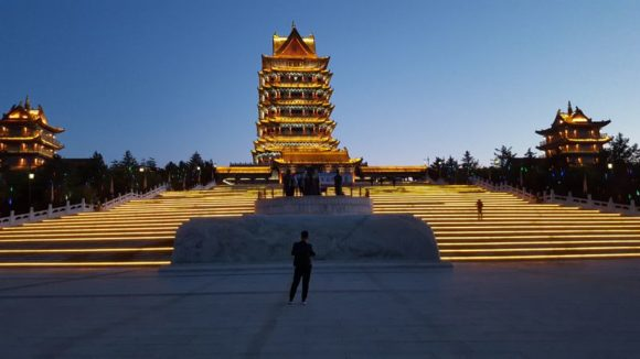 Yellow River Tempel Area of Huanghelou am Yangtse