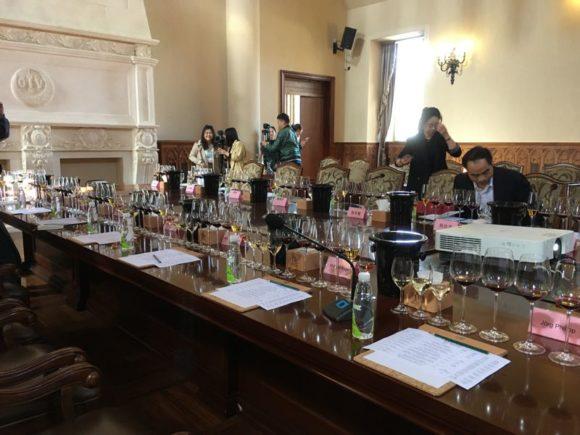 Offizielles Tasting bei Changyu mit Weinen unter Mitarbeit von Lenz Moser