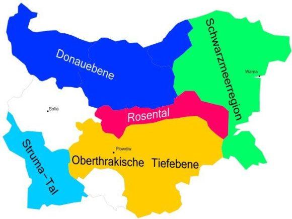 Weinbauregionen Bulgarien
