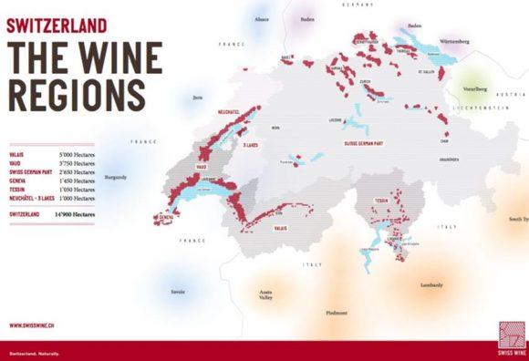 Weingebiete in der Schweiz